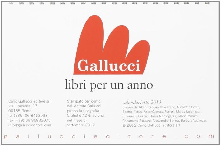 Calendarietto Da Tavolo 2013