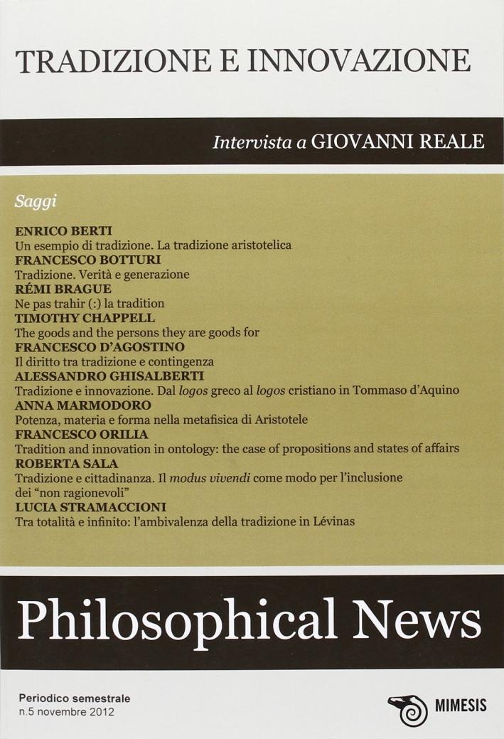 Philosophical news (2012). Vol. 5
