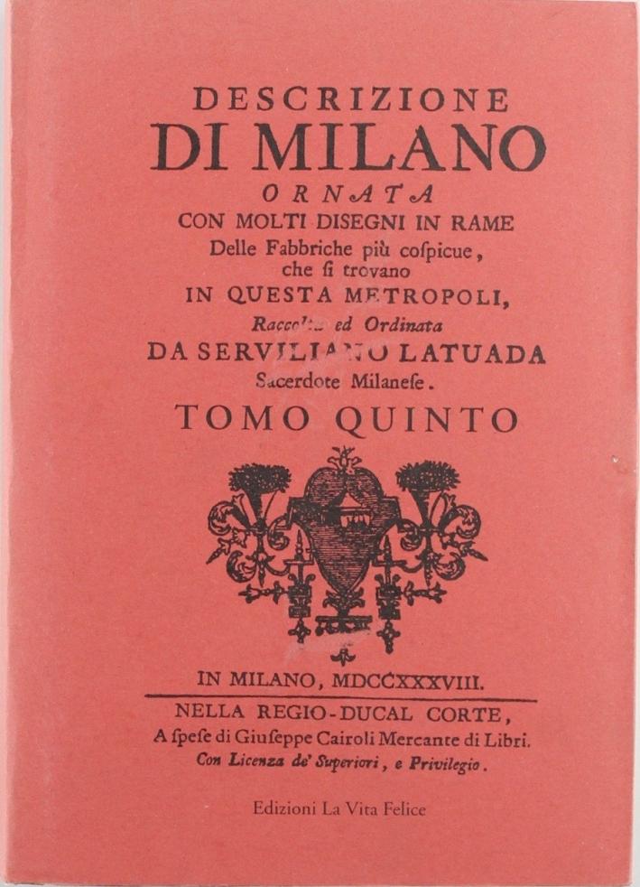 Descrizione di Milano. Vol. 5.