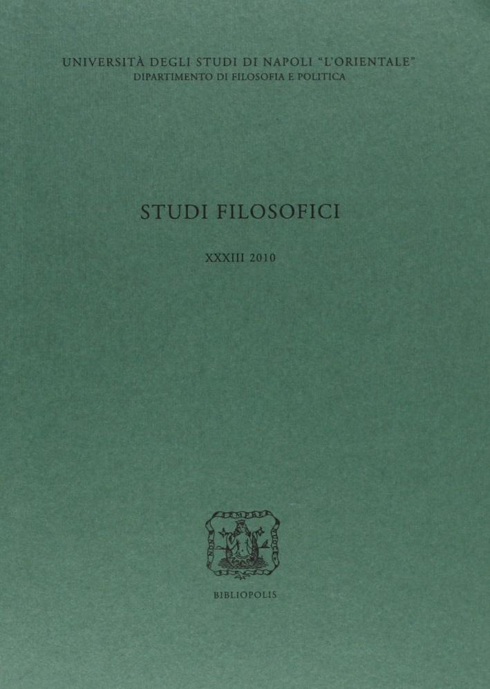 Studi Filosofici. Vol. 33