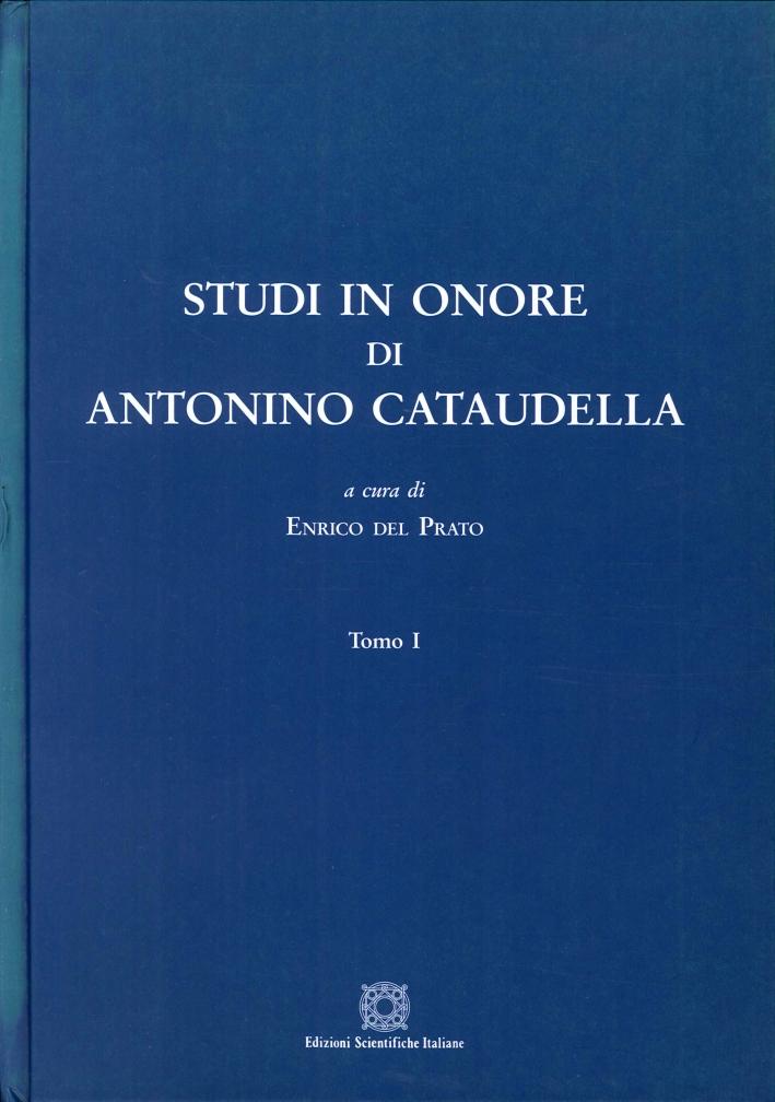 Studi in onore di Antonino Cataudella
