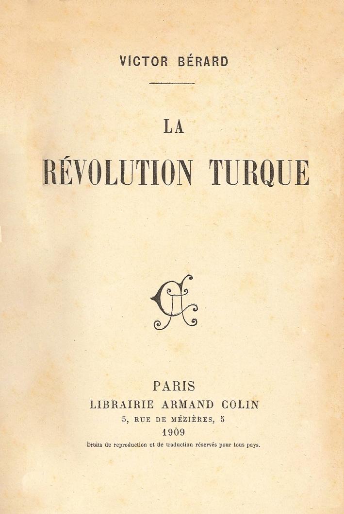 La Révolution Turque.