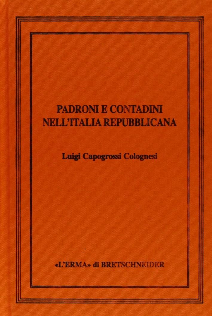 Padroni e contadini nell'Italia repubblicana