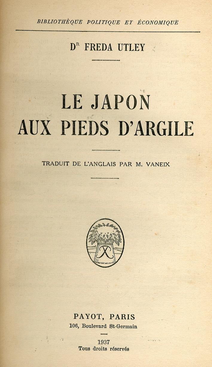 Le Japon Aux Pieds d'Argile.