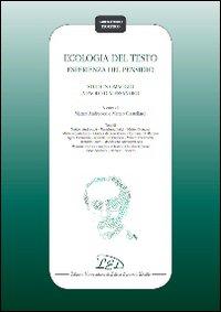 Ecologia del testo. Esperienza del pensiero. Studi in omaggio a Paolo D'Alessandro
