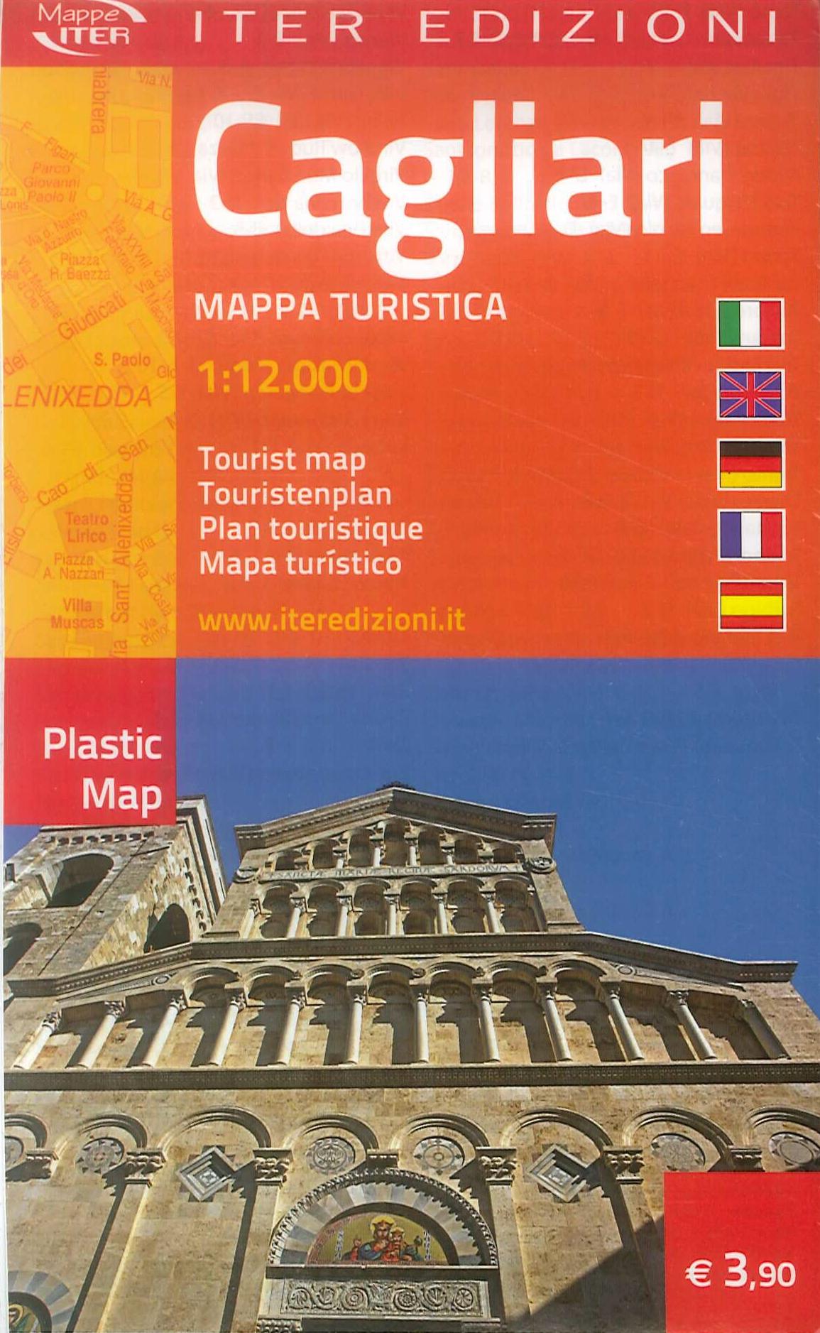 Cagliari. Mappa turistica. 1: 12.000