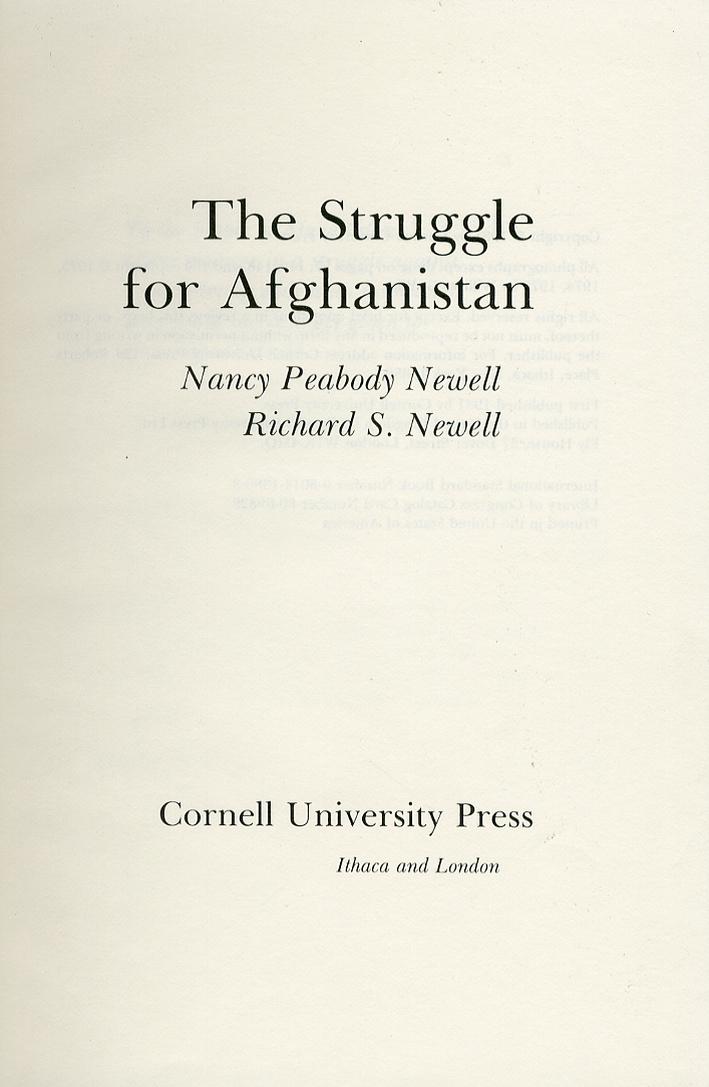 The Struggle For Afghanistan
