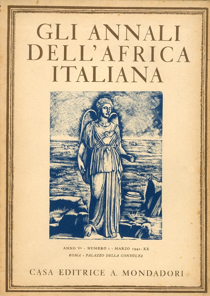 Gli Annali dell'Africa Italiana. Anno V. Volume I II III IV. Completo