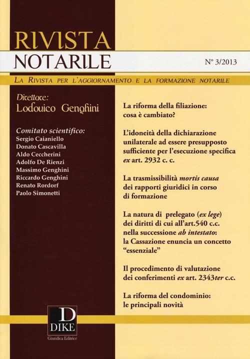 Rivista notarile (2013). Vol. 3.