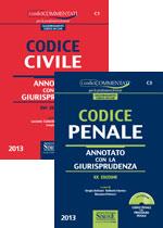 Codice civile-Codice penale. Annotati con la giurisprudenza. Con CD-ROM.