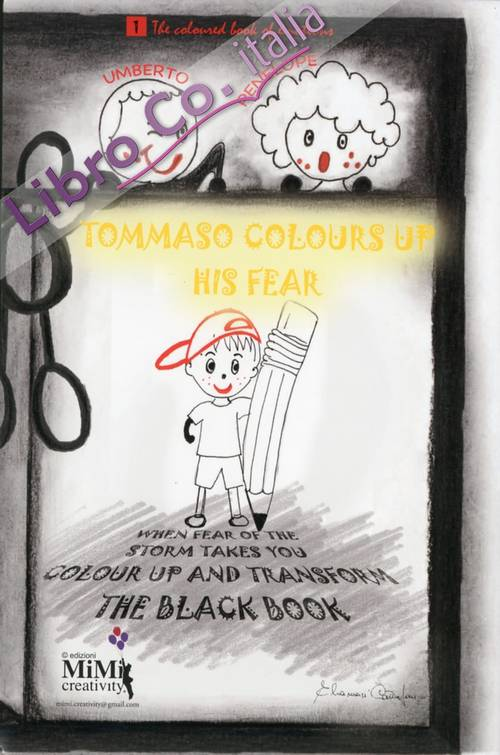 Tommaso colours up his fear. The coloured book of emotions.
