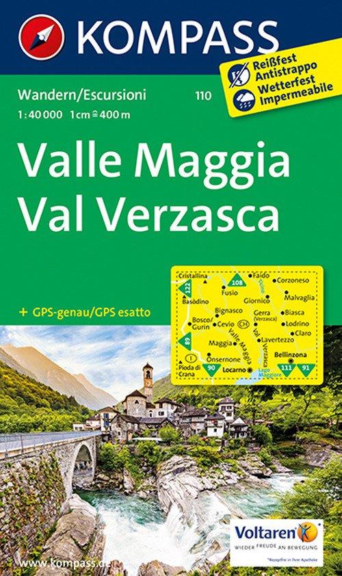 Carta escursionistica n. 110. Valle Maggia, val Verzasca 1:40.000