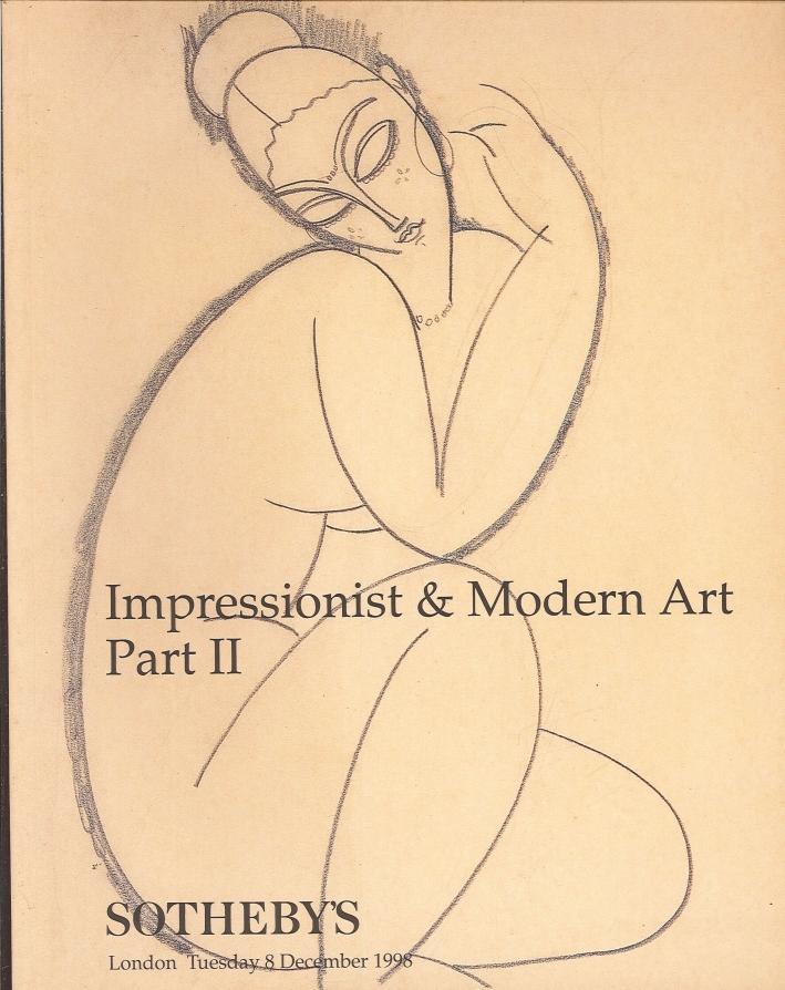 Impressionist & Modern Art. Part II. London, Tuesday 8 December 1998