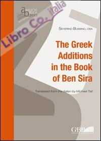 The greek additions in the book of Ben Sira