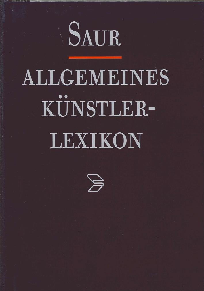 Allgemeines Kuenstlerlexicon. Band 1: A-Alanson