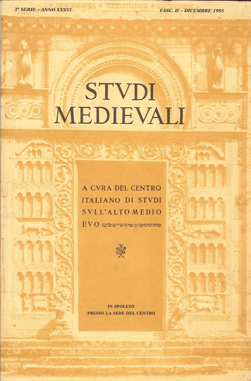 Studi Medievali 1995.[Edizione Incompleta. Disponibile Solo Fascicolo 2]