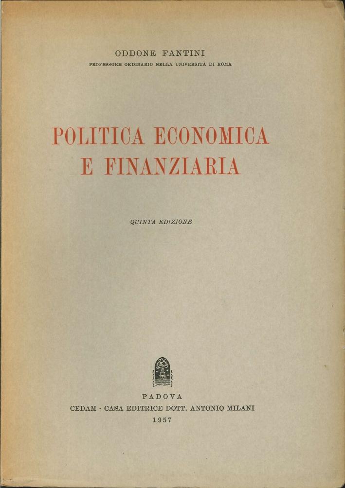 Politica Economica e Finanziaria