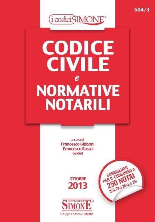 Codice civile e normative notarili