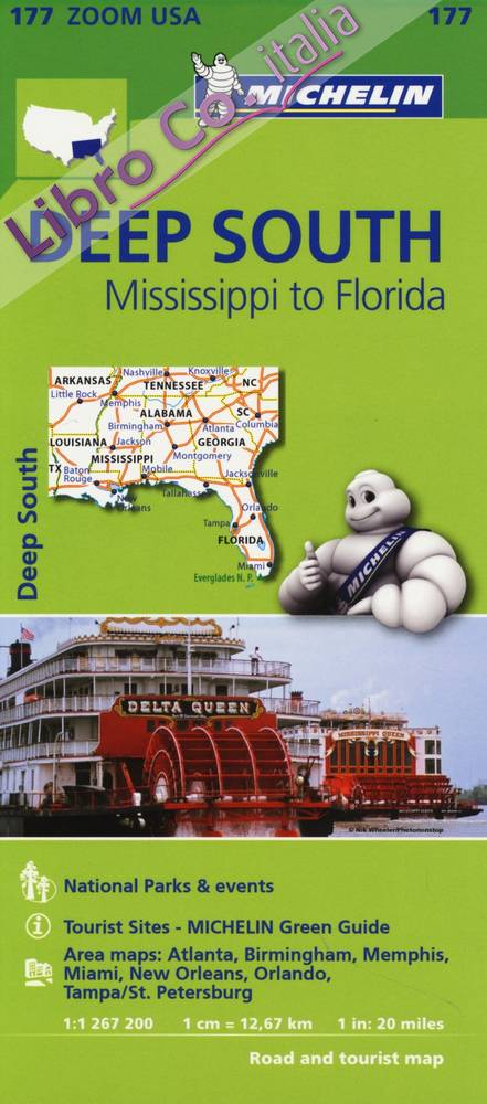 Deep South. Mississippi to Florida 1:1.267.200