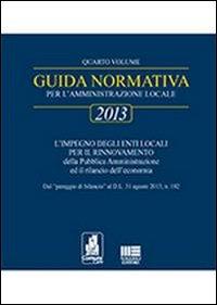 Aggiornamento guida normativa 2013.
