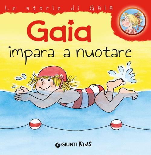 Gaia impara a nuotare.
