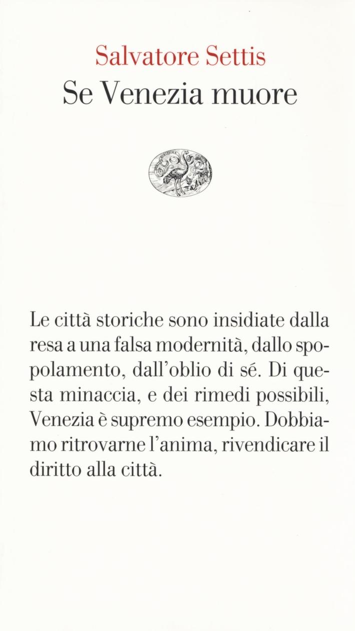 Se Venezia muore.