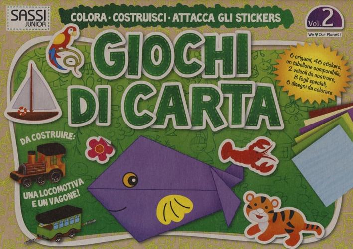Giochi di carta. Colora, costruisci, attacca gli stickers. Vol. 2.