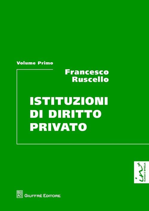 Istituzioni di diritto privato. Vol. 1