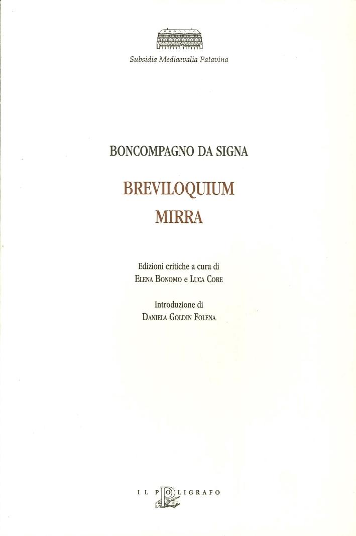 Subsidia Mediaevalia Patavina. Breviloquium, Mirra. 12