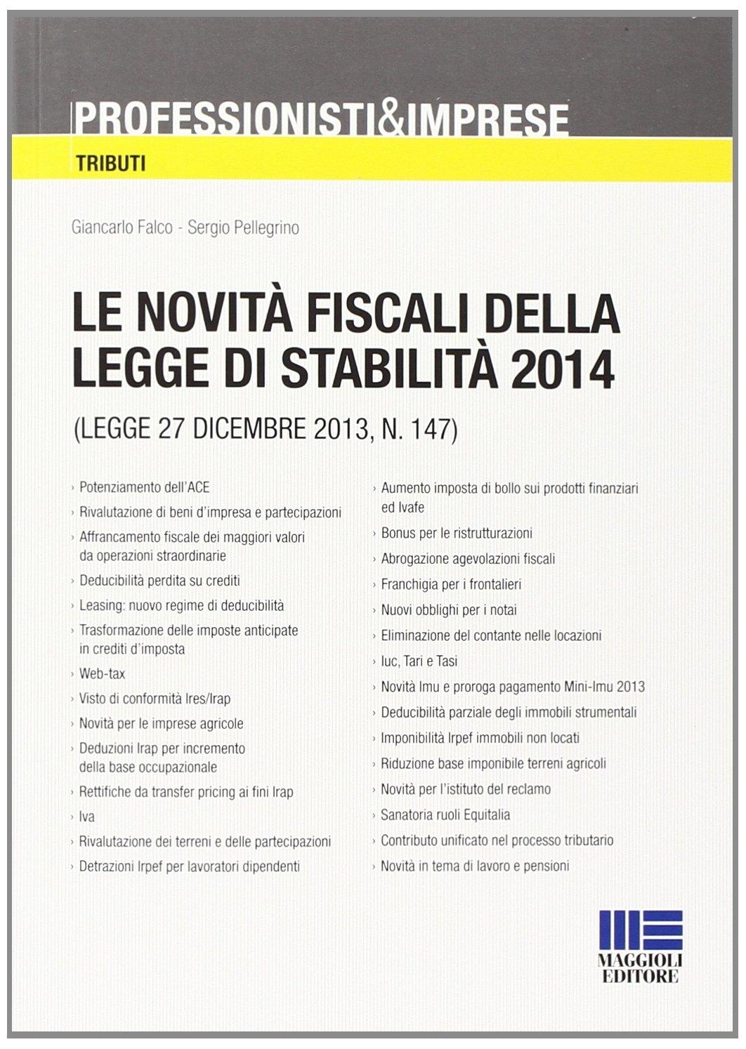 Le novità fiscali della legge di stabilità 2014