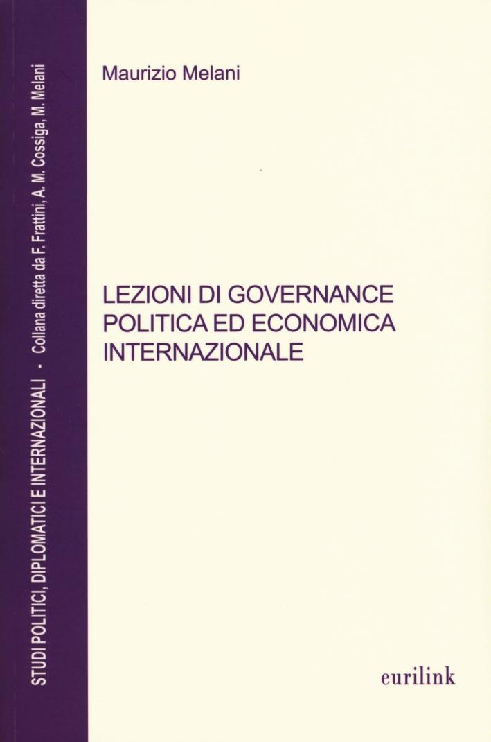 Lezioni di governance politica ed economica internazionale