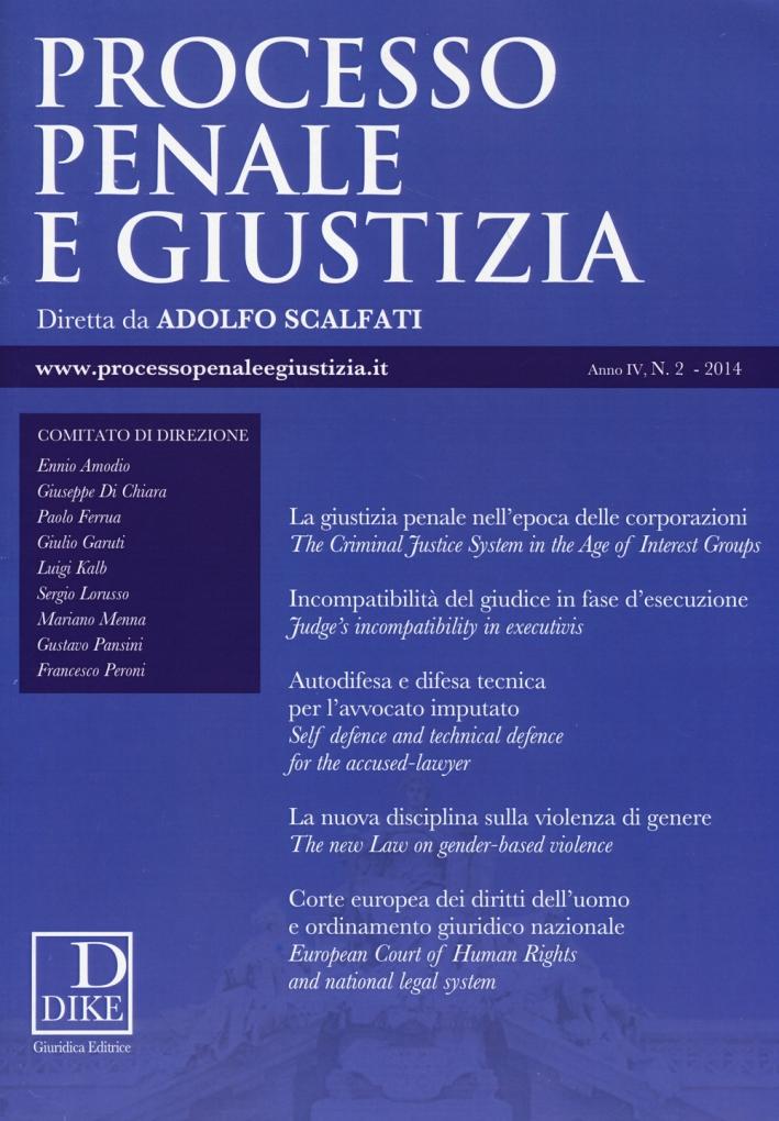 Processo penale e giustizia (2014). Vol. 2