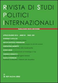 Rivista di studi politici internazionali (2014). Vol. 2