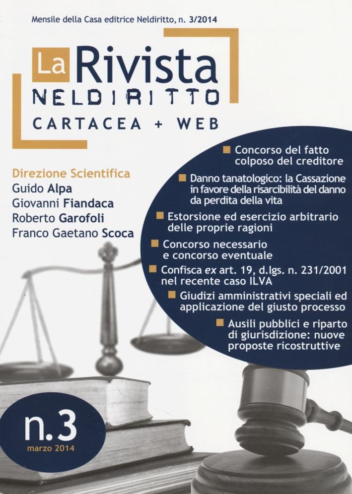 La rivista di Neldiritto (2014). Vol. 3