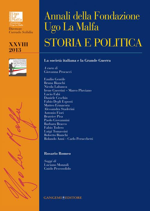 Annali della Fondazione Ugo La Malfa (2013). Vol. 28: Storia e politica