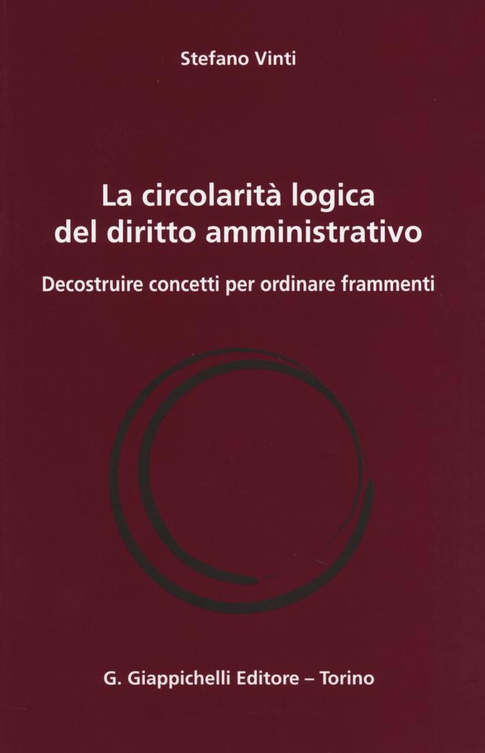 La circolarità logica del diritto amministrativo. Decostruire concetti per ordinare frammenti