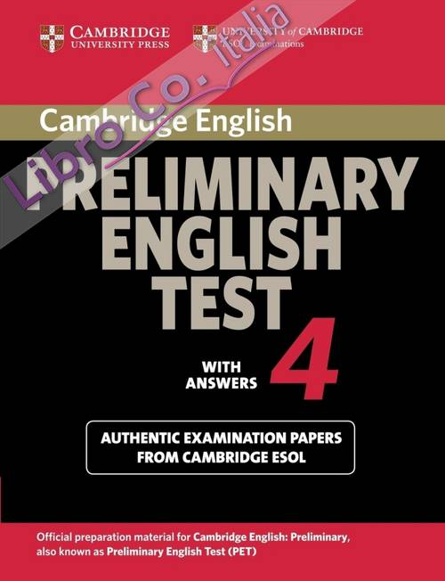 Cambridge Preliminary English Test 4 Student's Book with Ans