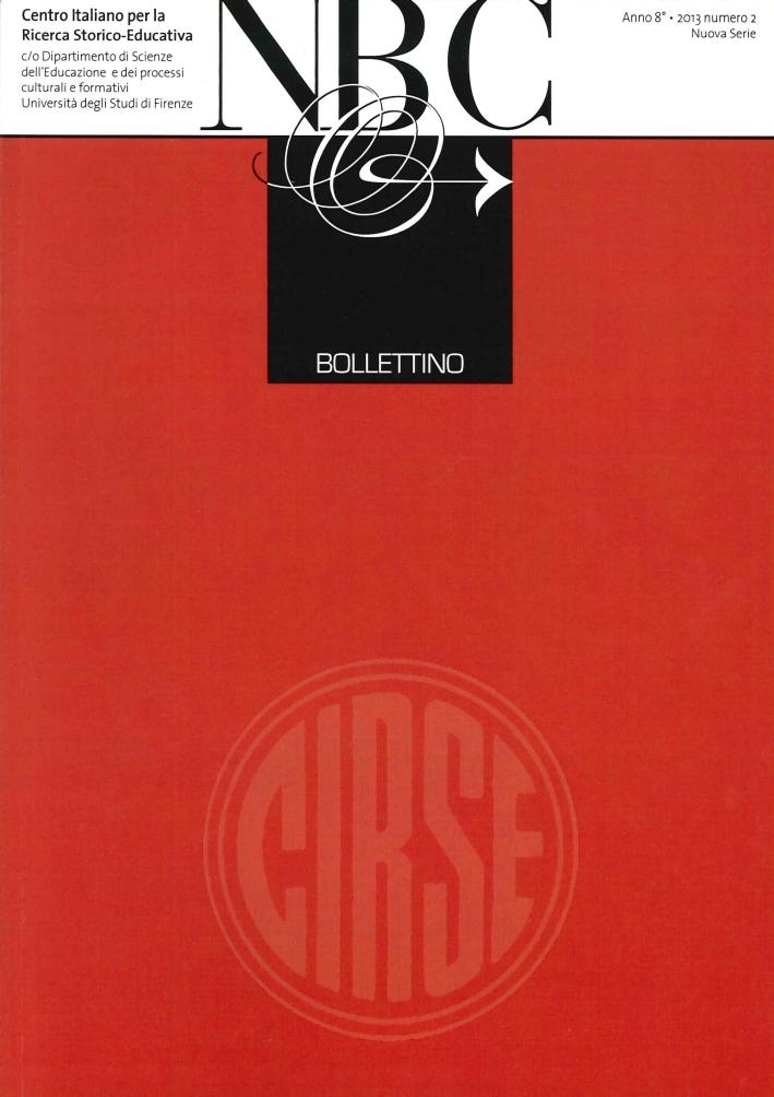Bollettino Cirse. Anno 8. 2013 Numero 2 Nuova Serie