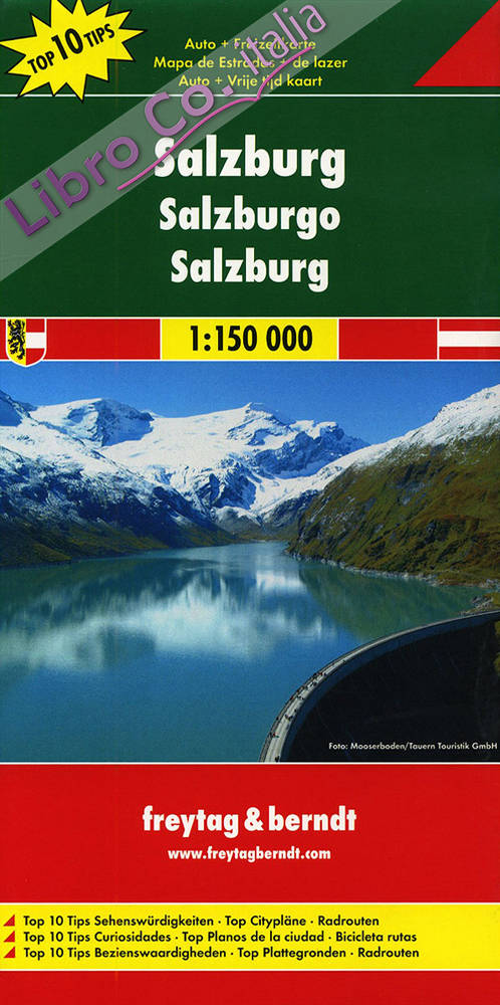 Salisburgo 1:150.000. Carta stradale e turistica
