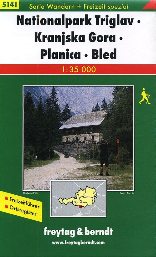 Nationalpark Triglav, Kranjska Gora, Planica, Bled 1:35.000. Ediz. tedesca e slovena.