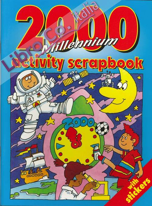 2000 Millennium Activity Scapbook With Stickers.
