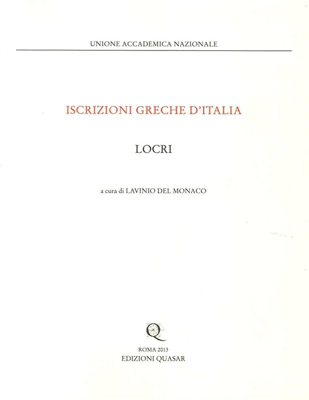 Iscrizioni Greche d'Italia. Locri.