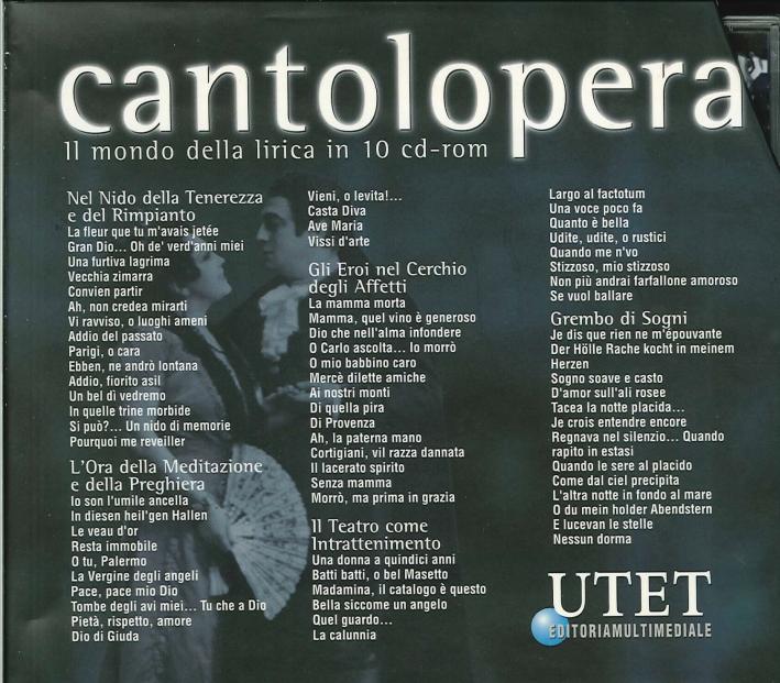 Cantolopera. Il mondo della lirica in 10 cd-rom