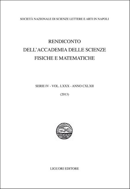 Rendiconto dell'Accademia delle scienze fisiche e matematiche. Serie IV. Vol. 80