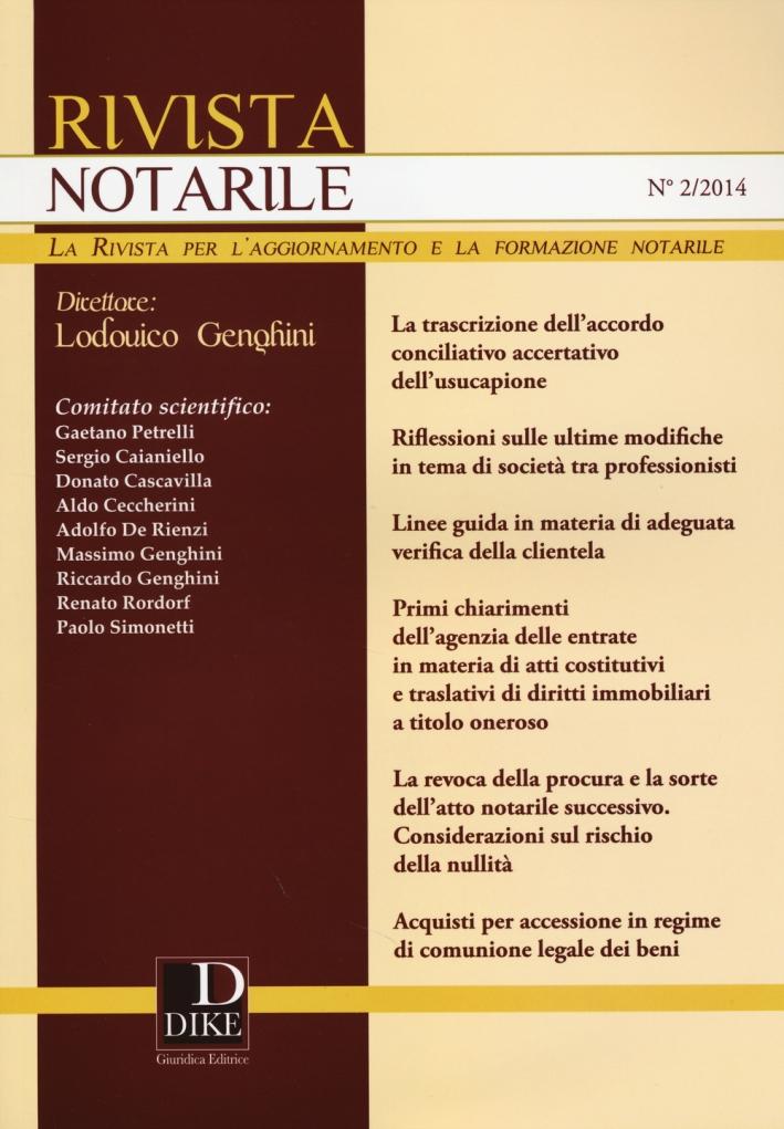 Rivista notarile (2014). Vol. 2