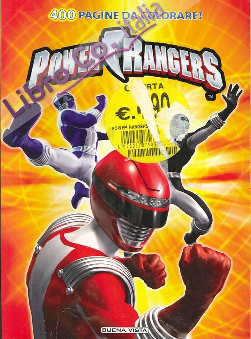 Power Rangers. 400 pagine da colorare.