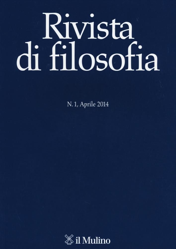 Rivista di filosofia (2014). Vol. 1.