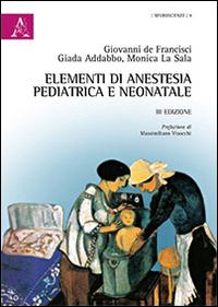Elementi di anestesia pediatrica e neonatale