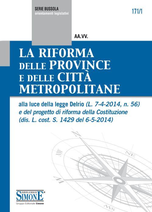 La riforma delle province e delle città metropolitane