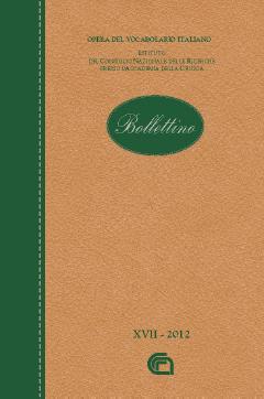 Bollettino dell'Opera del Vocabolario Italiano. Vol. 18